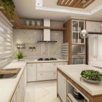 صورة- مطابخ خشب والمنيوم جميع التصميمات الحديثة
