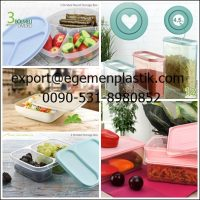 صورة- Storage boxes tupperware lunch boxes and plasticware