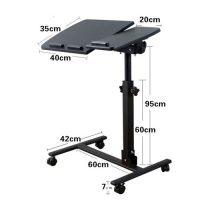 طاولة لابتوب متحركه وقابلة للطي المحمولهيمكن استخدامه على التخت