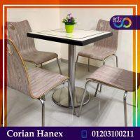 ترابيزات مطاعم كوريان - رخام صناعي وكراسي خشب
