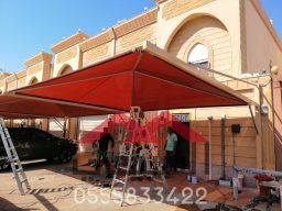 مظلات الرياض, مظلات مواقف سيارات في الرياض, تشيد وتركيب كافه انواع مظلات