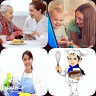 مطلوب عاملات نظافة وجليسات للمسنين والاطفال مقيملت